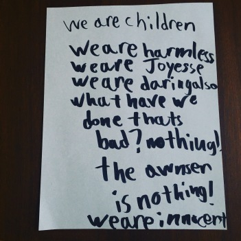 We are children We are innocent
